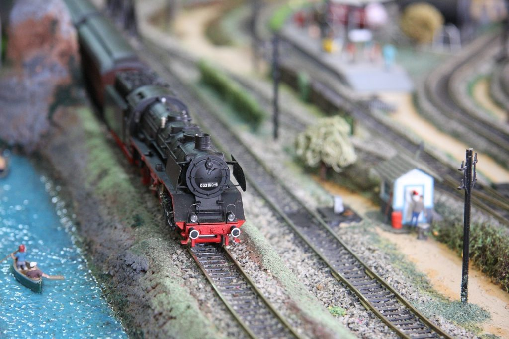 miniature train model